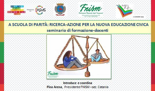 seminario di formazione docenti -A scuola di parità